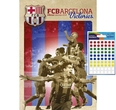 Calendar - FC Barcelona Victories Official 2018 Wall Calendar