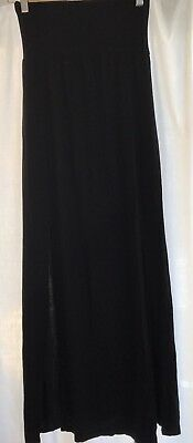 Size 12 Long Black Maternity Skirt With 2x Front Splits