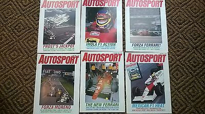 Autosport magazines F1 assorted 6 copies 1988 Good condition