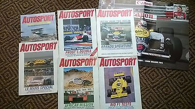 Autosport magazines (motorsport) assorted 5 copies 1986-87 Good condition