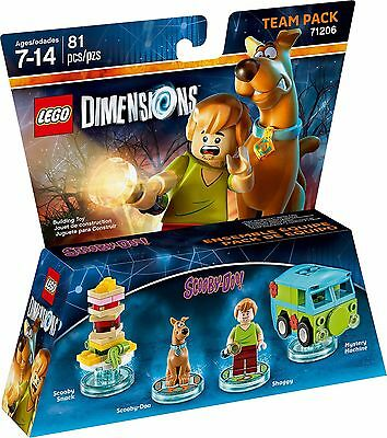 LEGO DIMENSIONS 71206 TEAM PACK Scooby - Doo Shaggy Mystery costruzioni nuovo