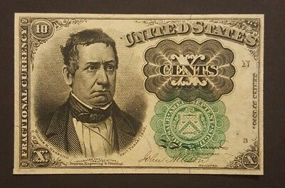 (GREEN SEAL - HIGH GRADE) Fifth Issue $0.10 Fractional Currency, Ten Cent Note