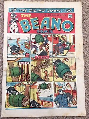 The Beano Comic issue No.278 Feb 23rd 1946