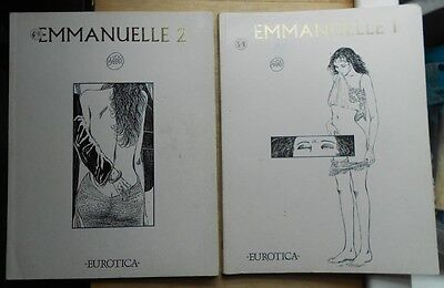 2 x graphic novels Emmanuelle 1 & 2 by Guido Crepax - 1990, English, erotic sexy