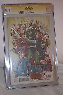 A-Force #1 (July 2015, Marvel) SS Signed by Molina  CGC 9.8