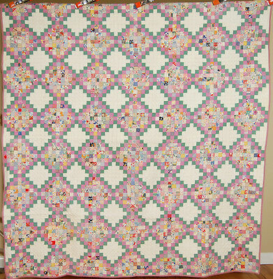 30's Vintage Philadelphia Pavement Antique Quilt ~SMALL POSTAGE STAMP PIECES!