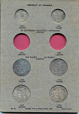 TWO ALBUMS (Incomplete), PANAMA SILVER COINS VARIOUS DATES