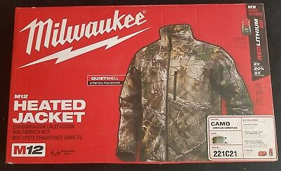 XL Milwaukee M12 Cordless Realtree Camo Heated Jacket Kit 221C21