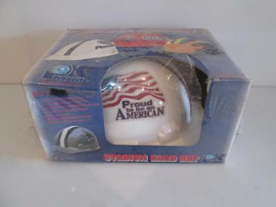 NEW Construction Hard Hat Helmet Wincraft Proud to be an American logo OSHA ANSI