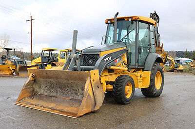 2012 Deere 310J Loader Backhoe 2500Hrs 4X4 Mp Bucket E-Stick Aux Hydraulics Cab