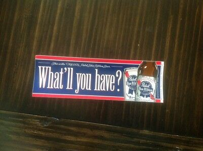 Pabst Blue Ribbon Bumper Sticker Vintage