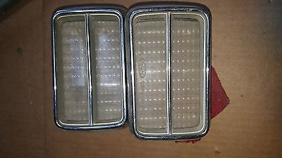 1974 Ford Mustang Grille Fog Lamps Parking Lamps!!! Pair!! Good Used!!! 74-78???