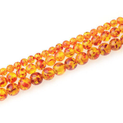 Wholesale  Amber Round Spacer Loose Beads 6mm 8mm 10mm Gemstone Jewelry