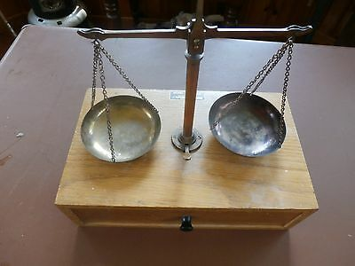 Early Henry Troemner Balance Scale in Wooden Case