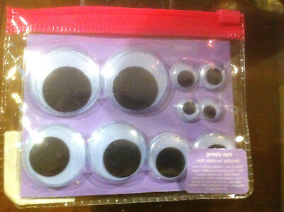 Claire's Claires Accessories Official Googly Eyes with Stick On Adhesive 5x Pair