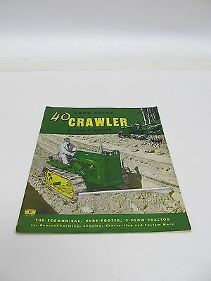 JOHN DEERE 40 CRAWLER 4- and 5-ROLLER 1954 BROCHURE