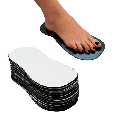 50 Sticky Disposable Tanning Adhesive Sole for Feet Indoor Spray Tanning - Black