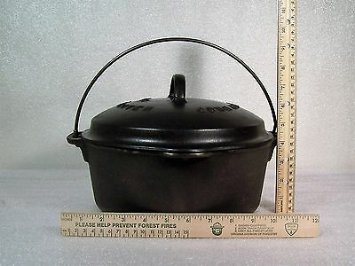 Wagner Ware No. 8 Cast Iron Dutch Oven Drip Drop Roaster with Lid Vintage EUC