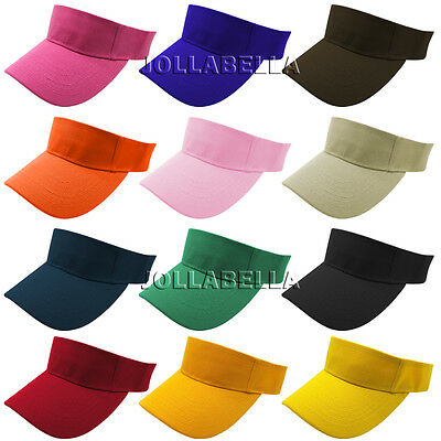 Sun Visor Baseball Caps Plain Hats Adjustable Outdoor Sports Tennis Strap Adult