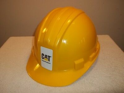 CAT CATERPILLAR FOREST PRODUCTS YELLOW HARD HAT WORK HELMET Adjustable Unworn