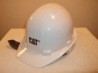 CAT CATERPILLAR HARD HAT WHITE WORK HELMET Licensed Looks Unworn Adjustable