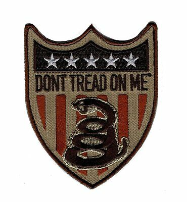 Gadsden Don't Tread On Me Usa Snake Shield Flag Us Hook Patch (P385)