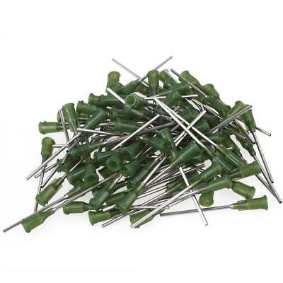 NEW Green And Silver 1.5 Inch Length Dispensing Blunt Needle Tips 14Ga