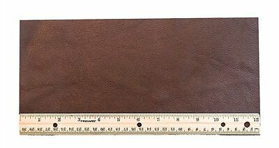 Upholstery Leather Piece Cowhide Dk Brown Lt Wt 1/2 Sf