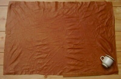 Upholstery Leather Piece Cowhide Light Brown Lt Wt 6 Sf