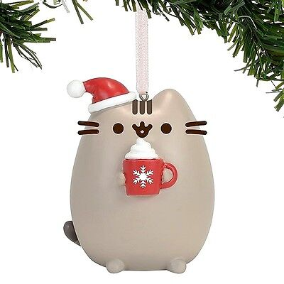 Gund Pusheen Meowy Christmas Ornament 4058301 New Resin Holiday