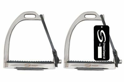 Peacock Safety Irons Fillis Horse Riding Equestrian Steel Stirrups Black Treads
