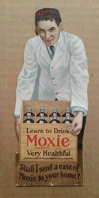 """Learn To Drink Moxie,Very Healthful"" Moxie Nerve Food Co.Trade Card,1900's"