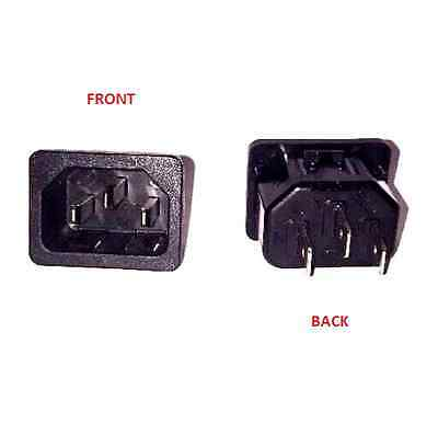 Male Receptacle AC Socket Power Plug Snap-In 15 A 250 V Panel Mount 6100-4320