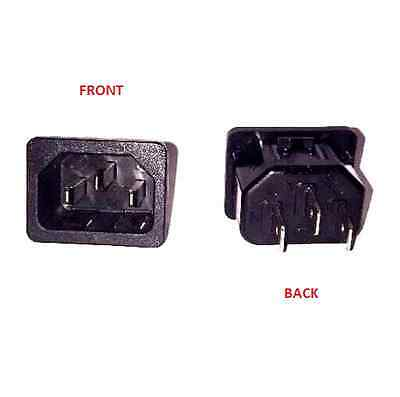 Power Plug Snap In Male Receptacle AC Socket 15 A 250 V Panel Mount 6100-4320
