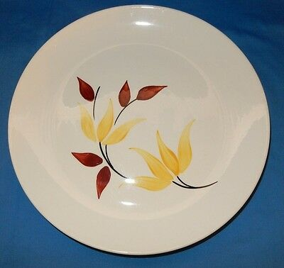 "Blue Ridge Southern Potteries 10 1/2"" Dinner Plate Yellow Flowers Red Buds"