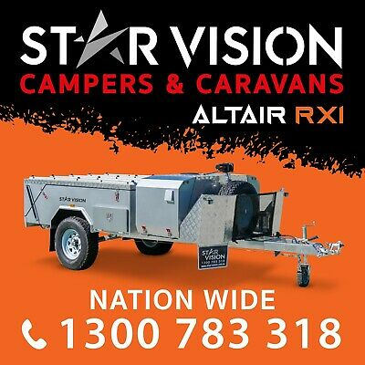 STAR VISION ALPHA A Hard Floor Camper Trailer Off Road Caravan Camper Rear Fold