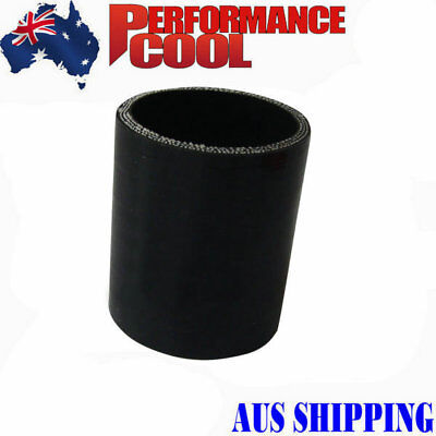 "2.25"" inch 57mm LENGTH:76MM BLACK PIPE Silicone Straight Coupler Hose 2.25"""