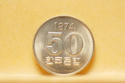 South Korea, 1974 50 Won, Brilliant Uncirculated                             ..^
