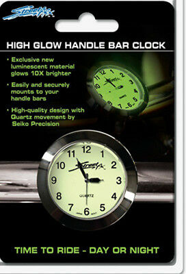 Streetfx Superglow Handlebar Clock (Chrome) 1045902
