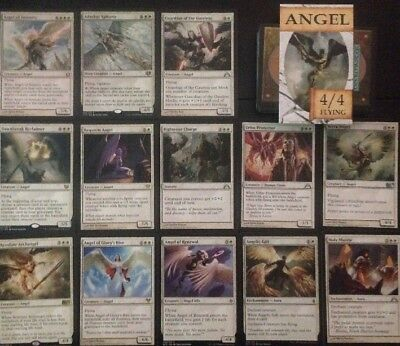 ANGEL DECK, 60+ Cards Ready To Play Magic Mtg white Angels