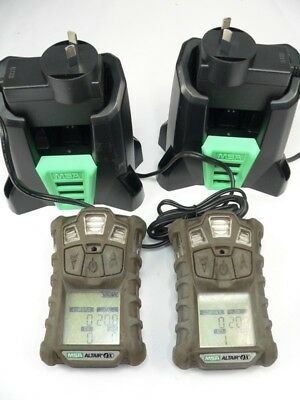f/  Two MSA Altair 4x Personal Gas Monitors  - Need care to charge easily.