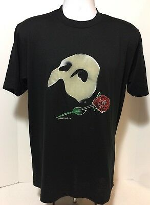 THE PHANTOM OF THE OPERA official rare vintage t-shirt Adult Large Broadway USA