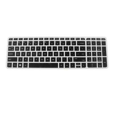 Silicone Keyboard Cover Keypad Skin for HP Pavilion 15'' Laptop Clear