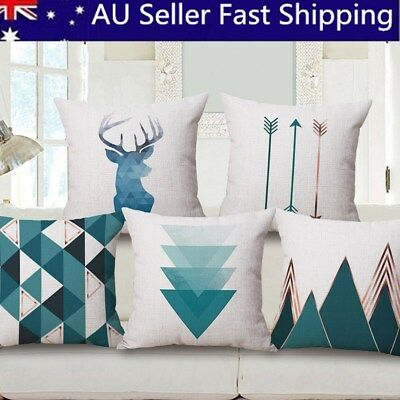 Simple Style Cotton Linen Sofa Throw Pillow Case Cushion Cover Car Home Decor