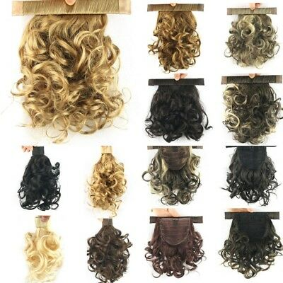 AU Lady Hair Wrap Curly Ponytail Clip In Extensions Natural Claw On Hair Piece
