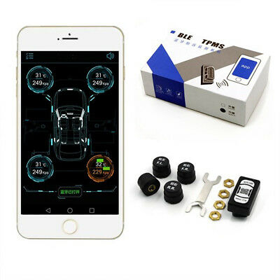 Car Tire Tyre Pressure Monitoring System TPMS Bluetooth 4.0 For IOS Android APP