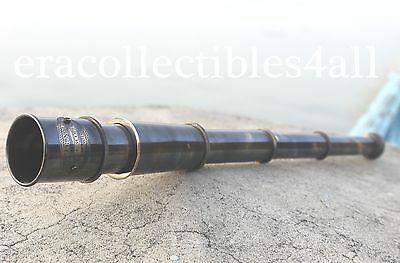 Vintage Nautical Telescope Brass Pirate Spyglass Scope Collectible Marine Scope.