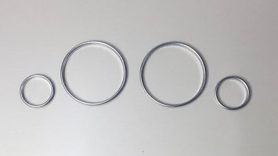 BMW Satin Silver Dash Trim Rings Speedometer Gauge Cluster Panel E38 E39 E53 X5