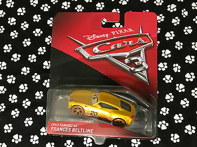 New Disney Pixar Cars 3 Diecast CRUZ RAMIREZ AS FRANCES BELTLINE
