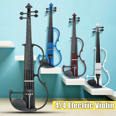 Electric Violin 4/4 Full Size + Headphone + Connecting Line + Case Gifts